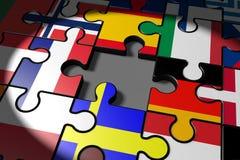 Brexit, el pedazo que falta en una UE del rompecabezas ilustración del vector
