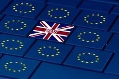 Brexit en de EU-symbool in PC-toetsenbord stock illustratie