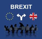 Brexit England European Flag Arrow Concept stock photography