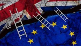 Brexit England wielki Britain łączy most drabiny po - 3d renderingu ilustracji