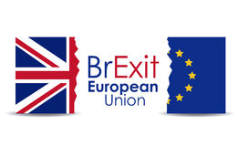 Brexit of the eruropean union  design Royalty Free Stock Images