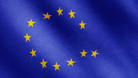 Brexit, the EU flag is a falling star stock video