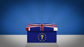 Brexit - EU referedum vote. Votes being cast in a referedum on the UK staying in the European Union vector illustration