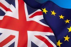 BREXIT - Europäische Gemeinschaft - Vereinigtes Königreich stockfotos