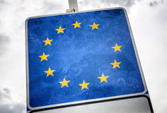 Brexit. European union without Great Britain star Stock Image