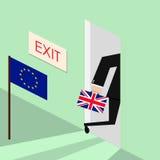 Brexit Europeisk union för Storbritannien utgång också vektor för coreldrawillustration Royaltyfria Foton