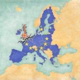 Brexit - Förenade kungariket och europeisk union vektor illustrationer