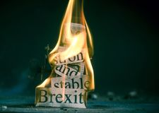 Brexit fail pojęcie zdjęcie royalty free