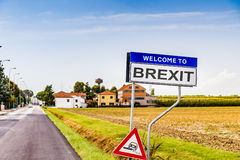 Brexit fake sign Royalty Free Stock Photo