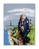 Brexit falezy wieszak ilustracji