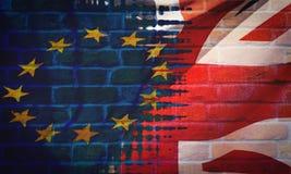 Brexit Fijn Art Flag Stock Foto