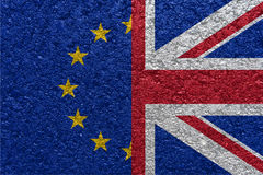 Brexit Flaga Eu i UK Obraz Stock