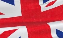Brexit, Flagge von Union Jack, britisches Symbol Großbritanniens England, genannt Flagge Vereinigten Königreichs Lizenzfreies Stockfoto