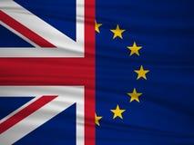 Brexit folkomröstning UK Britten röstar tjänstledigheter Flaggan av UK & EU rösta för Förenade kungariket utgångsbegrepp royaltyfri illustrationer