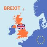 Brexit głosuje out od Europe zjednoczenia ilustracja wektor