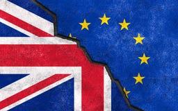 Brexit. Great Britain exit of EU art illustration Stock Photos