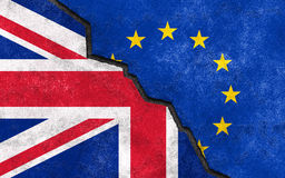 Brexit. Great Britain exit of EU. Breach between UK and EU Royalty Free Stock Photos