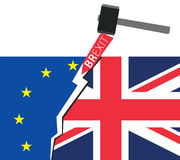 Brexit Great Britain leaving EU Royalty Free Stock Photography