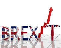 Brexit great britain text arrow index - 3d rendering. Brexit great britain text arrow index background - 3d rendering vector illustration