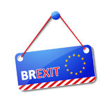 Brexit hanging sign Stock Photo