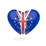 Brexit heart break Royalty Free Stock Images