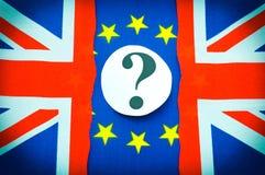 Brexit het Britse referendum van de EU Stock Afbeelding