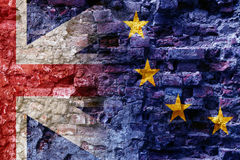 Brexit i Zjednoczone Królestwo jako ov, flaga Europejski zjednoczenie Obraz Stock
