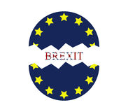 Brexit icon illustrated Royalty Free Stock Images