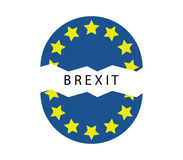 Brexit icon illustrated Royalty Free Stock Photo