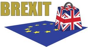 Brexit Il Regno Unito è un peso sull'Unione Europea fotografie stock libere da diritti