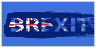 Brexit illustration - painted brush stroke background. Royalty Free Stock Photos