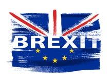 Brexit illustration - painted brush stroke background. Stock Photos
