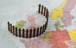 Brexit konceptualna mapa fotografia royalty free