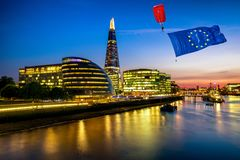 Brexit-Konzept in London stockbilder