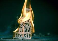 Brexit kuggningbegrepp royaltyfri foto