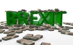 BREXIT - La Grande-Bretagne partant de l'Union européenne Illustration Libre de Droits