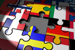 Brexit, the missing piece in a puzzle EU Stock Image