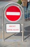 Brexit myśl znowu Zdjęcia Royalty Free