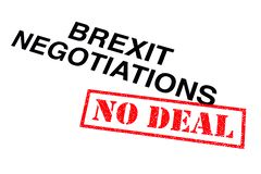 BREXIT Negotiations No Deal royalty free stock image