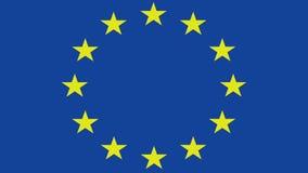Brexit, papel amarrotado de rolamento com bandeira europeia, crise do eurozone de schengen, fundo britânico da bandeira de Grâ Br ilustração do vetor
