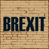 Brexit political process United Kingdom exit from Europe Vector poster stock illustration