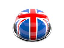 Brexit push button. Isolated on white background Stock Photography