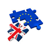Brexit Puzzle Pieces. On white background. 3D render