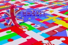 Brexit Puzzle Pieces Stock Images
