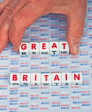 Brexit que saca el 'grande' fuera de Gran Bretaña Fotos de archivo