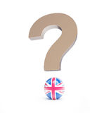 Brexit question mark. 3d Illustrations Royalty Free Stock Images