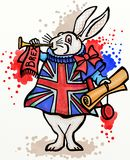 Brexit Rabbit Herald Royalty Free Stock Images