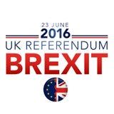 BREXIT referendum chodnikowa UK grafika ilustracji