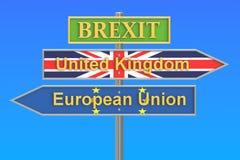 Brexit referendum concept, 3D rendering Stock Image