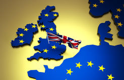 Brexit referendum concept. Royalty Free Stock Images